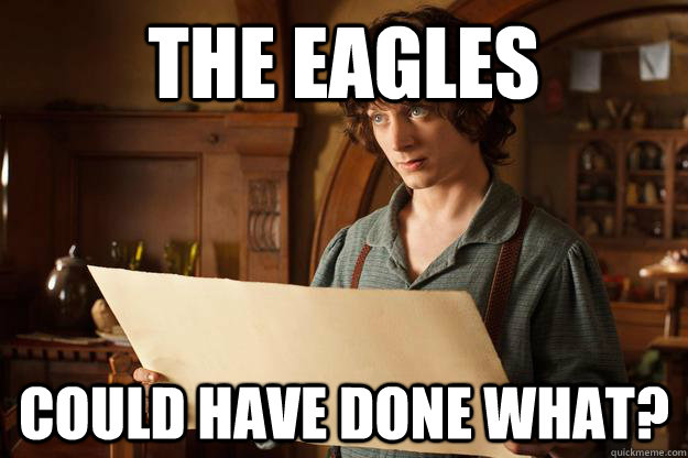 The eagles could have done what?