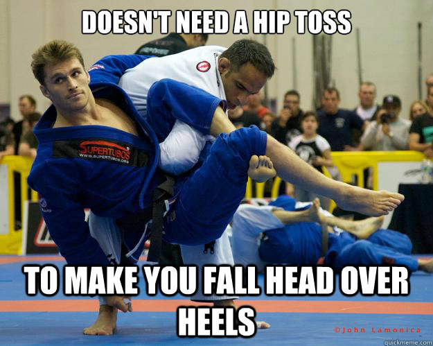 Doesn't need a hip toss To make you fall head over heels - Doesn't need a hip toss To make you fall head over heels  Ridiculously Photogenic Jiu Jitsu Guy