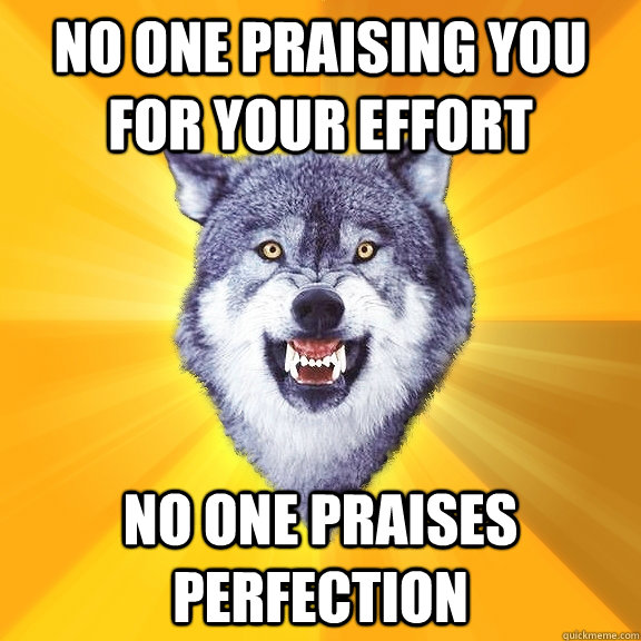 bd65aee90ba No one praising you for your effort no one praises perfection ...