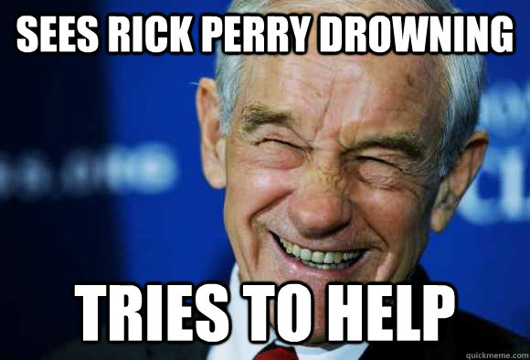 Sees Rick Perry drowning tries to help