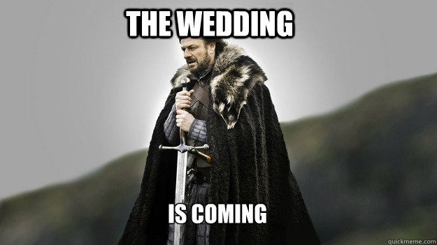 The Wedding is coming - The Wedding is coming  Ned stark winter is coming
