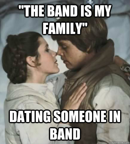 dating someone in your band