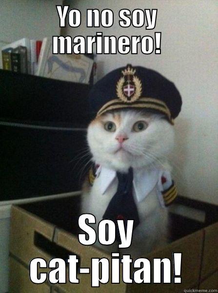 YO NO SOY MARINERO! SOY CAT-PITAN! Captain kitteh