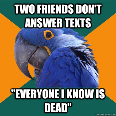 two friends don't answer texts