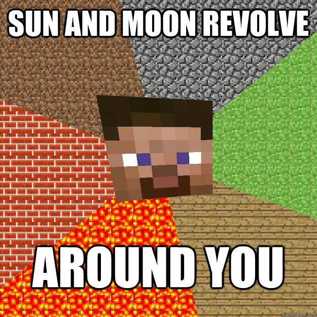 Sun and Moon revolve Around you - Sun and Moon revolve Around you  Minecraft