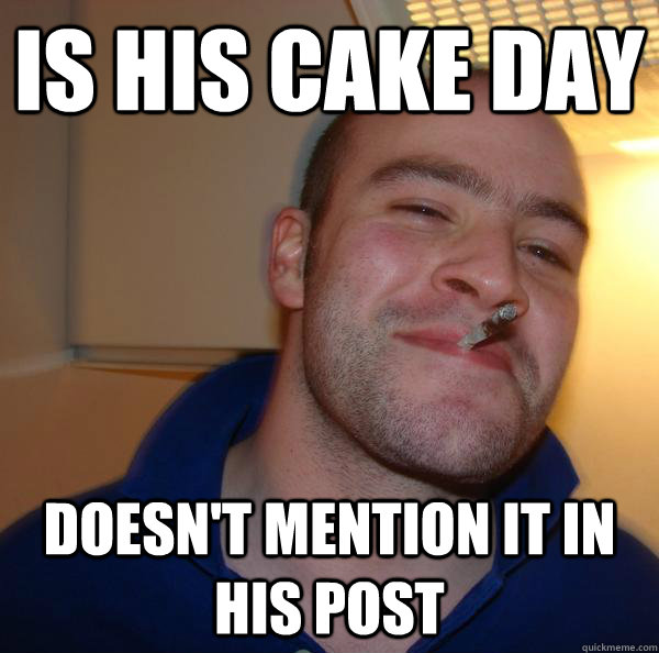 is his cake day doesn't mention it in his post - is his cake day doesn't mention it in his post  Misc
