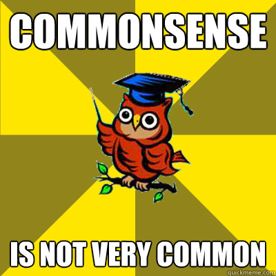commonsense is not very common  Observational Owl