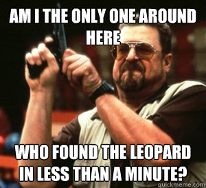 Am i the only one around here who found the leopard in less than a minute?  - Am i the only one around here who found the leopard in less than a minute?   Misc