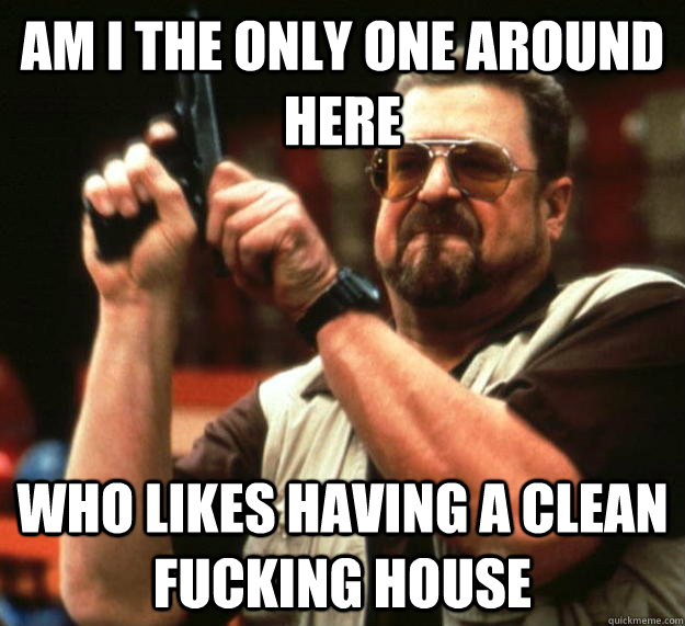Am I the Only one around here Who likes having a clean fucking house - Am I the Only one around here Who likes having a clean fucking house  Angry Walter
