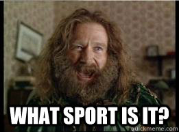 What sport is it? -  What sport is it?  What year is it