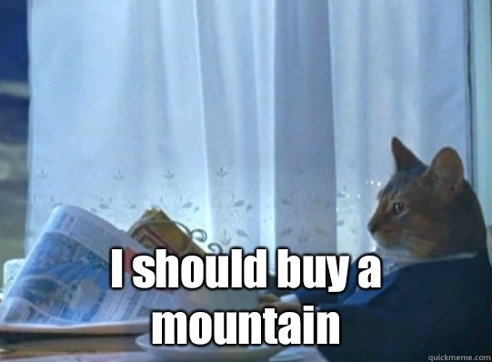 I should buy a mountain -  I should buy a mountain  Misc