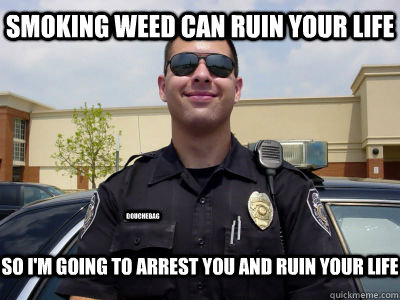 Image result for cop arrest weed smokers