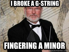 I Broke a G-String Fingering a Minor - I Broke a G-String Fingering a Minor  Creepy Band Teacher
