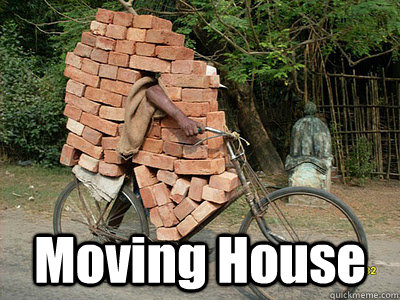 Funny images moving house