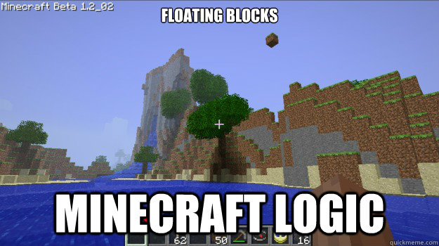 Floating Blocks MINEcraft Logic