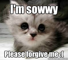 I'm sowwy Please forgive me :(