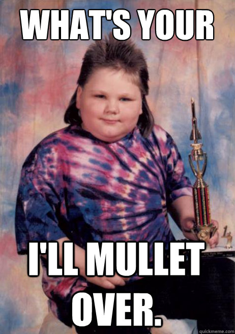What's your question again? i'll mullet over. - What's your question again? i'll mullet over.  Smug Mullet Kid