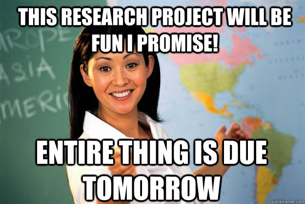 fun research projects for middle school