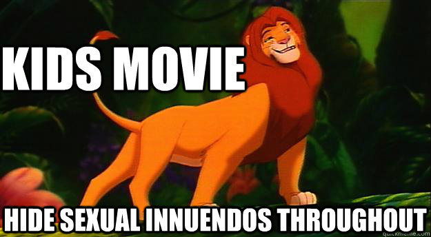 Sexual innuendo in disney movies