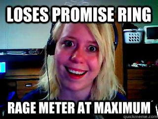 Loses promise ring Rage meter at maximum - Loses promise ring Rage meter at maximum  Overly Attached Blonde