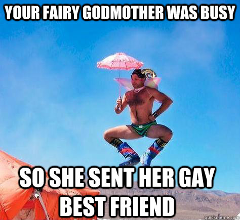 5ac631e50bf61003f9182b6ab0276c29cfbff2130268be324e70abb01b4d2cf9 your fairy godmother was busy so she sent her gay best friend