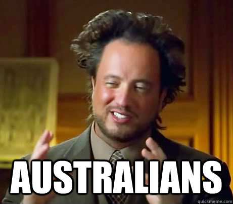 australians -  australians  Ancient Aliens Earthquake