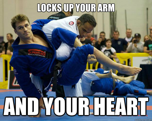 locks up your arm and your heart