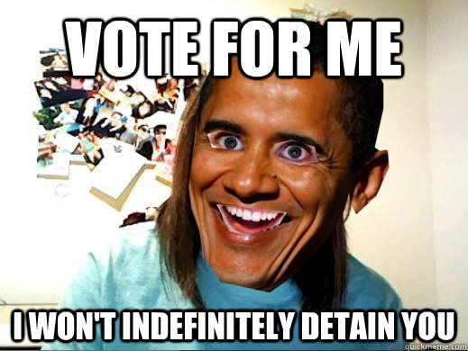 Vote for me i won't indefinitely detain you - Vote for me i won't indefinitely detain you  Misc