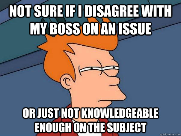 Image result for disagreement with boss memes