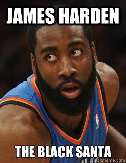 b90278e6784 james harden the black santa - James Harden - quickmeme