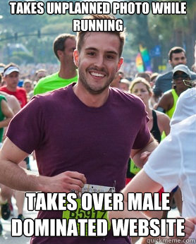 Takes unplanned photo while running takes over male dominated website  - Takes unplanned photo while running takes over male dominated website   Ridiculously photogenic guy
