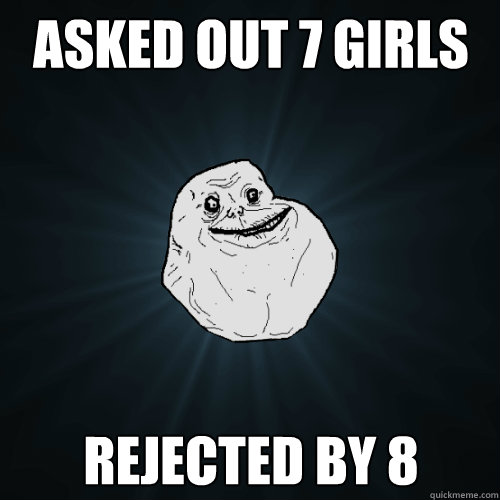 Asked out 7 girls Rejected by 8 - Asked out 7 girls Rejected by 8  Forever Alone