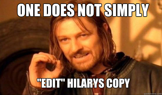 One does not simply