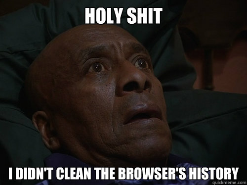 holy shit i didn't clean the browser's history - holy shit i didn't clean the browser's history  Bedtime Realizations