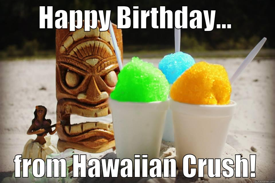 5b8c4964111e43fefa3a92c605741c3d1d0a2659b22c582c00f7895cd54ba5fe hawaiian crush birthday quickmeme