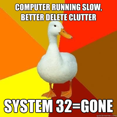 how to delete system 32 on a school computer