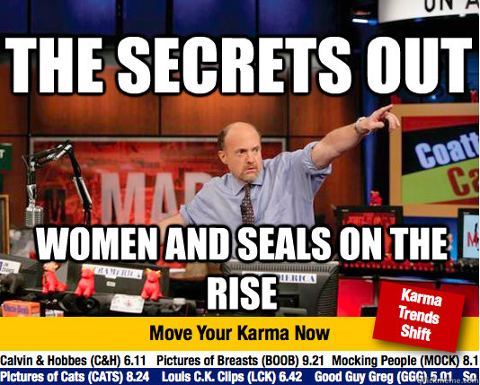 The Secrets out Women and Seals on the rise  Mad Karma with Jim Cramer
