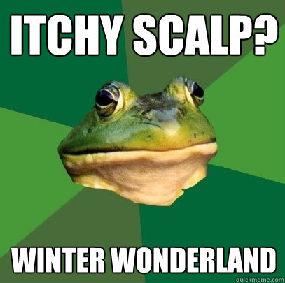 Itchy scalp? Winter Wonderland - Itchy scalp? Winter Wonderland  Foul Bachelor Frog