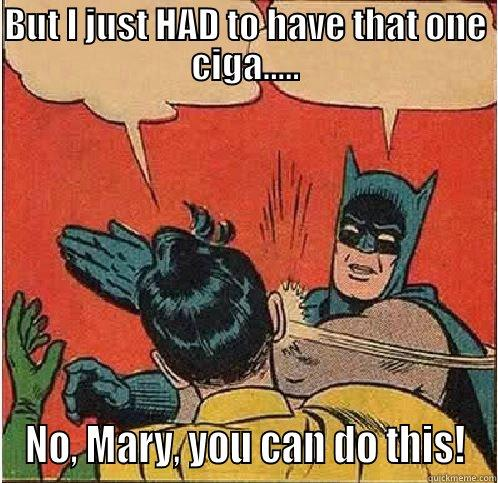 Stop Smoking - BUT I JUST HAD TO HAVE THAT ONE CIGA..... NO, MARY, YOU CAN DO THIS! Batman Slapping Robin