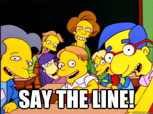 Say the line! -  Say the line!  Misc