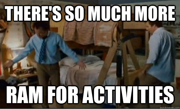 There's so much more  RAM for activities - There's so much more  RAM for activities  Stepbrothers Activities