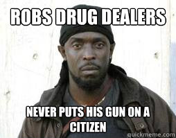Robs Drug Dealers Never puts his gun on a citizen