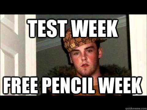 Test Week Free pencil week