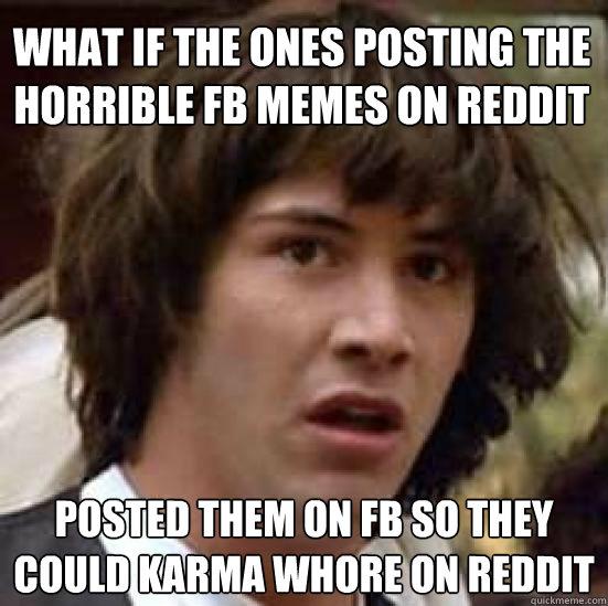 Funniest Meme Reddit : What if the ones posting horrible fb memes on reddit