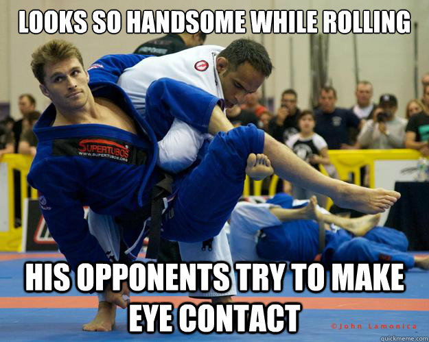 Looks so handsome while rolling his opponents try to make eye contact - Looks so handsome while rolling his opponents try to make eye contact  Ridiculously Photogenic Jiu Jitsu Guy