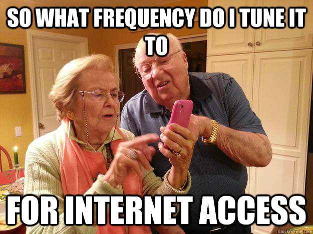 So what frequency do I tune it to for internet access