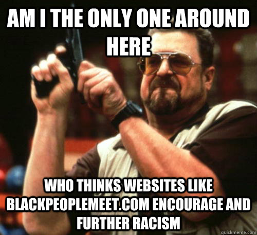 Am i the only one around here Who thinks websites like blackpeoplemeet.com encourage and further racism - Am i the only one around here Who thinks websites like blackpeoplemeet.com encourage and further racism  Am I The Only One Around Here
