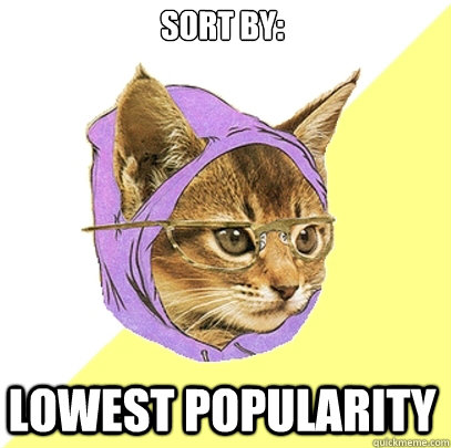 Sort by: Lowest popularity - Sort by: Lowest popularity  Hipster Kitty