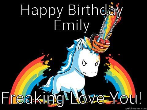 HAPPY BIRTHDAY EMILY  FREAKING LOVE YOU! Berks Dog