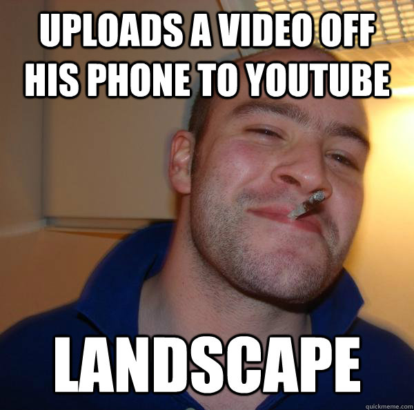 uploads a video off his phone to youtube landscape - uploads a video off his phone to youtube landscape  Misc